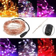 10m 100 led warm white string light dc12v waterproof copper