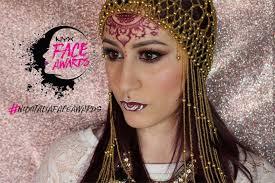 henna makeup henna girl nyx awards italy 2016 makeup victim for