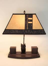 Owl Table Lamp Rustic Antique Desk Set Owl Table Lamp Parchment Paper Rectangle