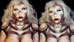 pinup anatomical robot halloween makeup tutorial jordan hanz