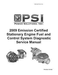psi certified stationary engine fuel system