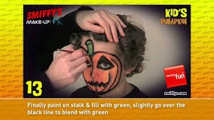 pumpkin halloween face painting make up tutorials for children