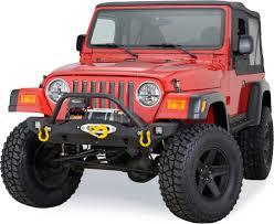 jeep cherokee prerunner fabtech front prerunner bumper in black for 87 06 jeep wrangler