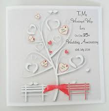 35 wedding anniversary personalised on our 35th coral wedding anniversary card