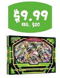 target pokemon promo code black friday target 9 99 pokemon shiny raquaza ex box 20 value 12 19 only