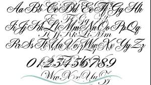ingenious fancy lettering for tattoos fonts designs ideas