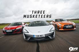 honda supercar mclaren 540c honda nsx nissan gt r u2013 the three musketeers 9tro