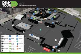Map Guest Dew Tour Long Beach 2016 Event Map And Guest Information Dew Tour