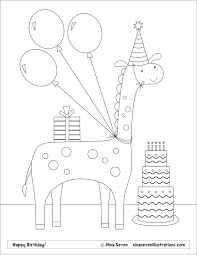 nina seven free coloring pages