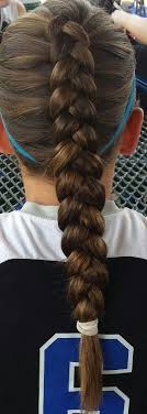 how to style hair for track and field beautiful dutch braid perfect for a volleyball game volleyball