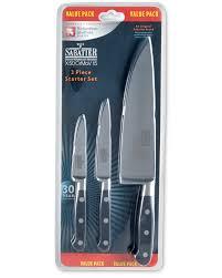 Sabatier Kitchen Knives Sabatier 3 Piece Starter Knife Set Aldi Uk