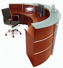 Reception Desk Curved Cherry Reception Desk In Stock Free Shipping
