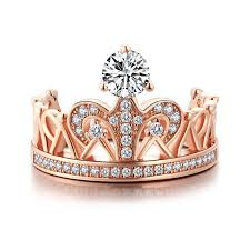 verlobungsring fã r mã nner princess crown ring for with 925 sterling sliver gold