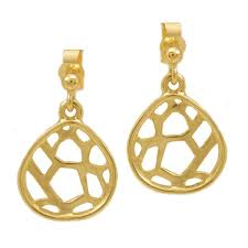 bespoke gold jewellery bespoke gold earrings inspired by rock formations by scottish