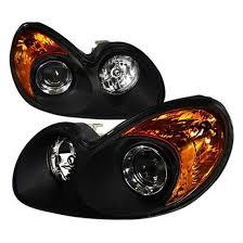 2002 hyundai sonata headlights 02 05 hyundai sonata 4 door black clear lens projector headlights