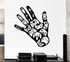 compare prices on teen room mural stickers online shopping buy gamer hand vinyl wall stickers video games play room boys wall sticker man cave decor personality