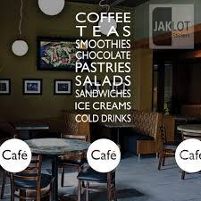 coffee tea sandwiches cafe vinyl window wall sticker retail