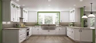 Stylish Kitchen Cabinets Rta Bright White Shaker Stylish Kitchen Cabinets