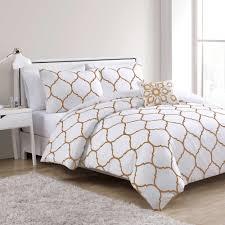 White Queen Duvet Vcny Ogee Comforter Set In Gold White Queen Comforter Sets