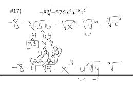 simplifying radicals worksheet youtube