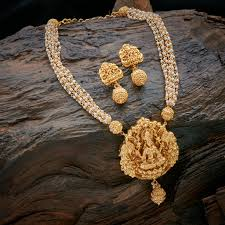 fashion jewelry gold necklace images Shopzters 20 latest necklace inspirations from kushals fashion png