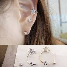 s ear cuffs fashion women s sweet design clip earrings sweet rhinestone ear