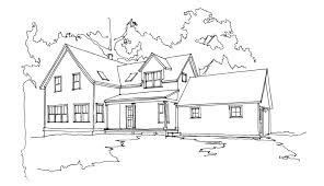 traditional farmhouse plans knight architect llc u2013 a blue hill farmhouse