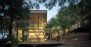 architectural house rock house bark design architects archdaily