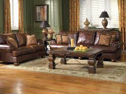 Living Room With Black Leather Furniture by Living Room Decorating Ideas With Dark Brown Leather Sofa