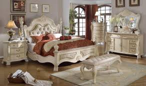 Antique Bed Set Furniture Monaco Bedroom Set In Rich Antique White By Meridian Furniture