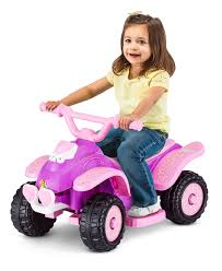 pink toddler car ride on toys 6 volt toddler quads kid trax toys