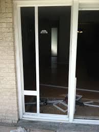 Patio Sliding Door Installation Installing A Sliding Glass Dog Door And Anderson Sliding Glass