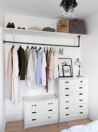 Dressers For Small Bedrooms 9 Ways To Store Clothes Without A Closet Dresser Shelves And Store