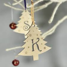 initial letter christmas tree decorations by hickory dickory