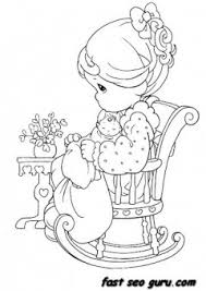 precious moments sitting on chair coloring pages printable