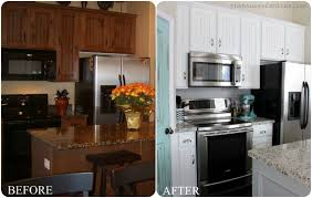Painting Old Kitchen Cabinets Before And After Before And After Painted Kitchen Cabinets Elegant U2014 Desjar