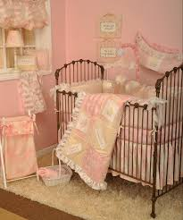 pink bedding for girls breathtaking shabby chenille crib bedding kumari garden crib