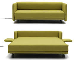 Sleeper Sofa For Small Spaces Maximizing Small Spaces Using Modern Sleeper Sofa With Green