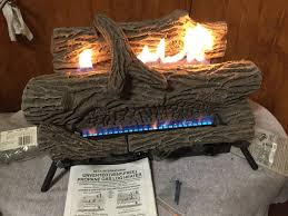 desa vanguard fireplace vent free lp gas dual burner 5 piece logs