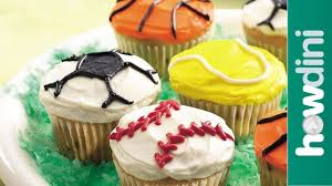 cupcake decorating ideas sports theme decorated cupcakes youtube