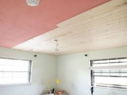 Painting Over Popcorn Ceiling by Popcorn To Planked Ceiling Progress Cape 27