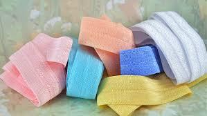 ribbon by the yard elastic fold stretch ribbon pastel foe sewing trim elastic by