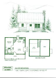 simple house plans with loft log home package kits cabin silver mountain model brilliant simple
