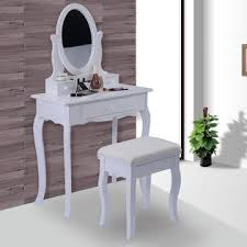Jewelry Vanity Table Goplus White Vanity Table Jewelry Makeup Desk Bench Dresser W