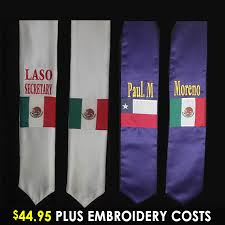 personalized graduation stoles personalized hispanic flag stole graduation stoles