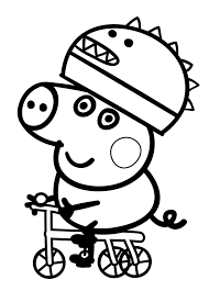 superb peppa pig george coloring peppa pig coloring