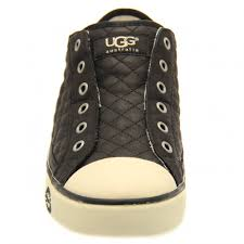 womens ugg trainer boots buy womens ugg australia laela quilted trainers in black at hurleys