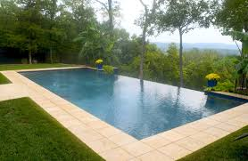 Infinity Pool Backyard by Wildwood Courtyard Pool Design Renovation Poynter Landscape