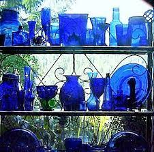cobalt blue home decor cobalt glass in kitchen window project hometalk
