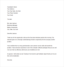 thank you letter after interview with multiple interviewers thank you letter to interviewer